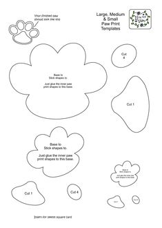 Large Dog Paw Print Template | scope of work template