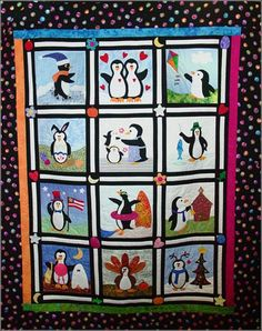 penguin quilt gotta make this for Kayla