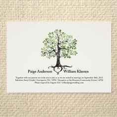 Wedding Invitation  Rustic Woodland Tree  by AmyAdamsPrintables, $25.00