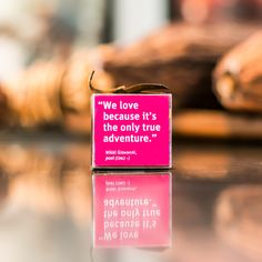 """We love because it's the only true adventure"" - Nikki Giovanni. You can find this endearing dark and milk chocolate sampler at our SF Westfield Mall Kiosk"
