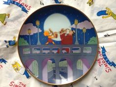 Simpsons Franklin Mint plate Lisa and her Sax