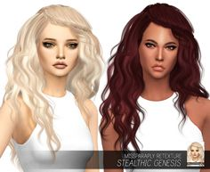 Stealthic Genesis: Solids at Miss Paraply via Sims 4 Updates  Check more at http://sims4updates.net/hairstyles/stealthic-genesis-solids-at-miss-paraply/