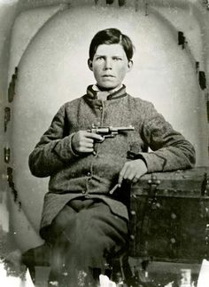"Private Ephraim Kale, Co. I ""Catawba Marksmen"" 49th NC State Troops, 15 years old when he enlisted in 1862. Source."