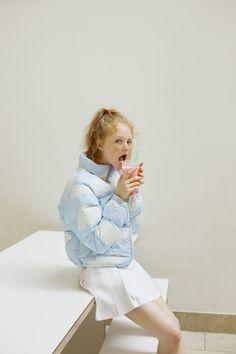 Blue skies and slurpies - Cloud Puffa Jacket coming soon