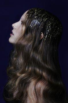 Glitteriset hiukset uuden vuoden juhliin | Glittery hair for #newyears