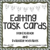 Editing Task Cards (quotation marks and other punctuation)
