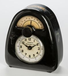 Timepieces:Clocks, Isamu Noguchi (American, 1904-1988). Measured Time (Clockand Kitchen Timer), circa 1932, Hawkeye by Stevenson, Mfg. Co....