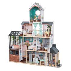 Povestile vor deveni realitate cu casuta de papusi Celeste de la KidKraft! 3 Bedroom Home Floor Plans, Cottage Floor Plans, Jacuzzi, Villa, Tiny Dolls, Dollhouse Dolls, Dollhouse Ideas, Fancy Party, Child Doll