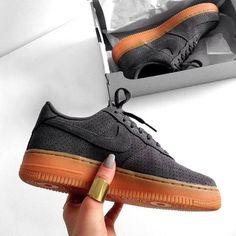 Trendy Sneakers 2017  2018   Sneakers women - Nike Air Force 1 low suede  grey (©endzel  e8ea0dcae
