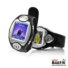 """Mobile Phone Wrist Watch """"Thrifty"""" - Touch Screen, Quad Band, Bluetooth (Black) #smartphone #watchphone"""