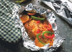 I love grilling in foil packs!  So easy!  This is a recipe for grilled chicken & vegetables.