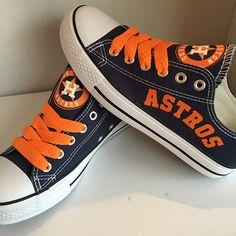 c4946b4daa7 Houston Astros Converse Style Sneakers - http   cutesportsfan.com houston-