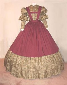 New Calico dress Vintage Dresses, Vintage Outfits, Vintage Fashion, Vintage Clothing, Hollywood Costume, Hooray For Hollywood, Gone With The Wind, Historical Costume, Costume Dress