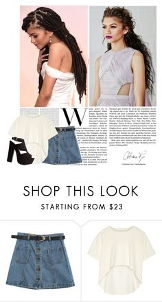 """""""She's too much for my mirror"""" by authenticfashion ❤ liked on Polyvore featuring Chicnova Fashion, Oak and Charlotte Russe"""