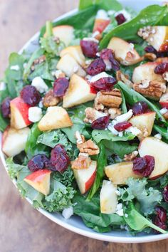 Apple Cranberry Pecan Salad with balsamic vinaigrette | Tastes Better From Scratch  #christmas #salads #recipes