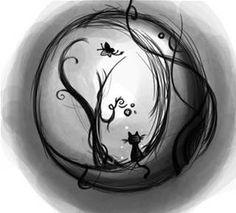 cat moon Tattoo - Bing Bilder