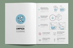 Instruction manual for a household electric appliance company. Book Design Layout, Print Layout, Company Brochure, Brochure Design, Leaflet Design, Instructional Design, Catalog Design, Photoshop, User Guide