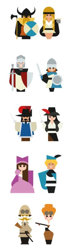 character minimal illustrations by supercool spanish design agency Hey