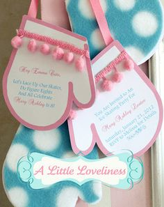 A Little Loveliness: Ice Skating Party Invitation