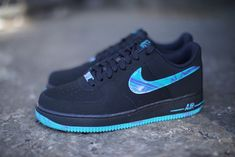 Nike Air Force 1 Low: Black, Turbo Green & Purple Venom