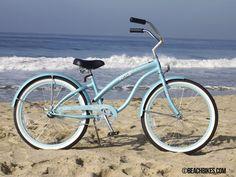 "The NEW 24"" Bella Classic Beach Cruiser in Baby Blue"