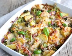 Serves 6  Prep: 15 min Cook: 40 min  Ready in: 55 min    Ingredients:    Vegetable Bake     4 potatoes   1 large sweet potato   2 large carrots   1 red onion   1 broccoli head   Any other vegetables you like: Capsicum, beans, pumpkin, cauliflower    Cheese Sauce     2 tablespoons soft butter   2 tablespoons flour   1 cup milk   1/2 cup grated cheese    Directions:     Preheat