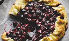 Yotam Ottolenghi's blueberry galette: This simple pudding is a perfect way to round off a late-summer meal. Photograph: Colin Campbell for the Guardian. Food styling: Nico Ghirlando