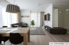 HOLA_19 - Średni salon z jadalnią, styl minimalistyczny - zdjęcie od HOLA DESIGN