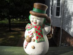 Vintage Snowman Christmas Decoration From by sistersvintageattic