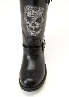 Skull Biker Boot Motorcycle Fashion, Motorcycle Style, Skull Fashion, Numb, Clothes Horse, Skeletons, Designer Collection, Skulls, Biker