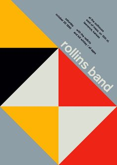 Rollins Band in Swiss Style Posters by Mike Joyce