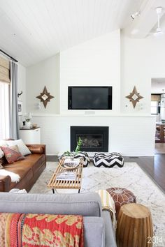 House Tweaking's White Fireplace