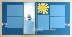 Sailing & the Summer Sun Page Layout