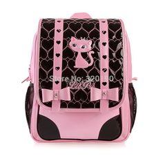 2014 new free ship fashion cute children leopard prin bow school ... Cat  Backpack dd01e69ea1