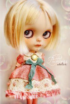 Blythe Dress ROSE BUD JELLY Romantic Ooak Outfit By by oddprincess