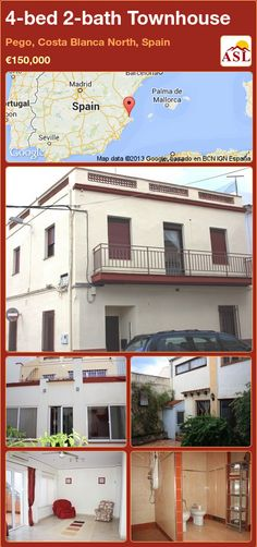 4-bed 2-bath Townhouse in Pego, Costa Blanca North, Spain ►€150,000 #PropertyForSaleInSpain