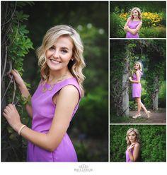 Madison - Tiffin Ohio Senior Portraits captured at the Toledo Botanical Gardens by Britt Lanicek Photography