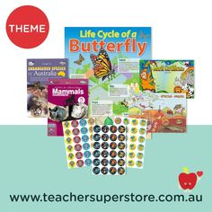 THEME: Animals  Explore our animal themed resources including student books, certificates, pencils, stickers and art and craft activities. Teaching Aids, My Buddy, Life Cycles, Craft Activities, Mammals, Certificate, Arts And Crafts, Teacher, Student