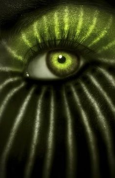 Through Watermelon green eye // Jungle by #Anticocotte.