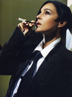 Monica Bellucci..Girls in ties...It's a good thing..