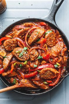 Italian Sausage Vegetable Skillet - Easy and full of flavor! A comforting meal the whole family will love.