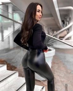Pvc Leggings, Wet Look Leggings, Shiny Leggings, Tights, Leather Pants Outfit, Leather Dresses, Cher Bono, Girls Club, Leather And Lace