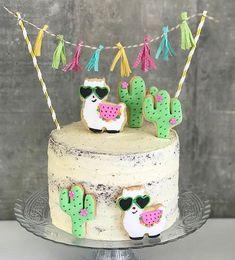 👏🎉🎉👏 TOP 10 2017 Festa Gatinhos fofa por e . Inspire-se e Faça a Festa Llama Birthday, Birthday Cake Girls, 2nd Birthday Parties, Birthday Ideas, Cactus Cake, Fiesta Party, Fiesta Cake, Mexican Party, Girl Cakes