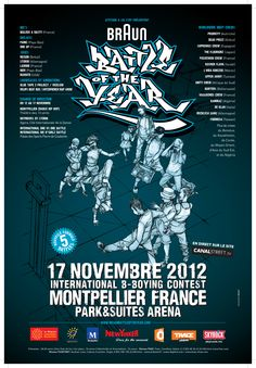 La finale du Braun Battle of the Year #BOTY, c'est ce week-end à Montpellier !  http://www.braunbattleoftheyear.com/