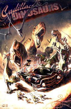 Cadillacs And Dinosaurs by FabianMonk.deviantart.com on @deviantART