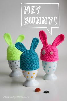 Source Free Easter Egg Crochet Patterns Easter is almost here! It's time to fill up our baskets with some colorful woolly crochet eggs! Crochet them… Easter Egg Pattern, Easter Crochet Patterns, Easter Season, Easter Projects, Coloring Easter Eggs, Easter Colors, Hoppy Easter, Craft Gifts, Free Crochet