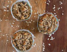 Neues Rezept auf meinem Blog! Bananen Haferflocken Muffins ohne Mehl und Zucker!