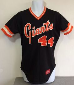 1ea41db8 Reserved 70s San Francisco GIANTS Jersey Rare SEWN Rawlings Game Worn 44  Tackle Twill MLB Baseball Minor League Uniform Willie Mccovey