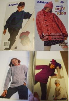 Second Silver - 722 - 764 Patons knitting patterns children babies accessories sweaters