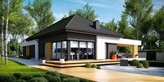 Find home projects from professionals for ideas & inspiration. Projekt domu HomeKONCEPT 27 by HomeKONCEPT Contemporary House Plans, Modern House Plans, Small House Plans, Modern Bungalow, Bungalow House Plans, One Storey House, Beautiful House Plans, Architect House, Prefab Homes